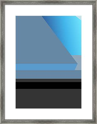 Symphony In Blue - Movement 1 - 2 Framed Print