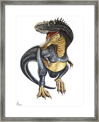 T-rex Framed Print by Murphy Elliott