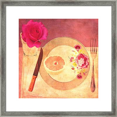 Tablescape Framed Print by Lisa Noneman