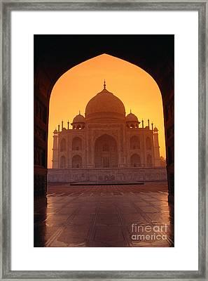 Taj Mahal View Framed Print by Gloria & Richard Maschmeyer - Printscapes