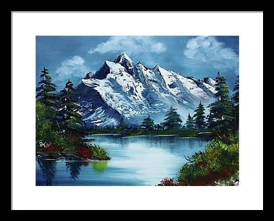 Bob Ross Paintings Framed Prints