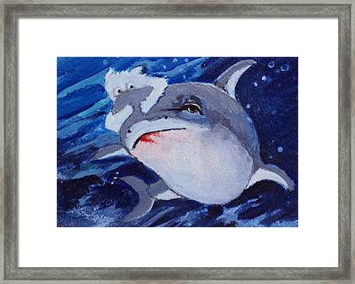 Take A Ride On The Wild Side Framed Print by Diane Ursin