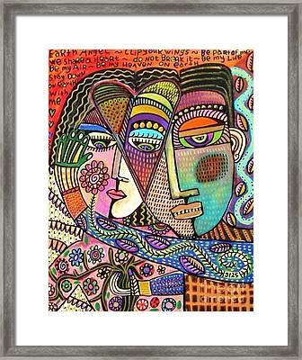 Talavera Garden Angel Lovers Framed Print