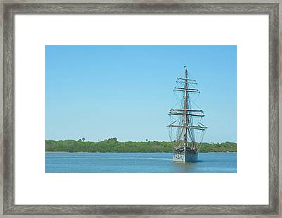 Tall Ship Elissa Framed Print