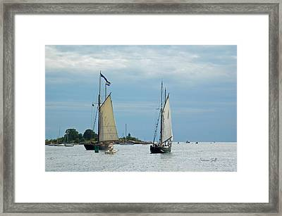 Tall Ships Sailing I Framed Print by Suzanne Gaff