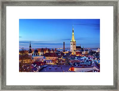 Framed Print featuring the photograph Tallinn by Fabrizio Troiani