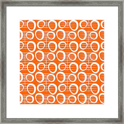 Tangerine Loop Framed Print by Linda Woods
