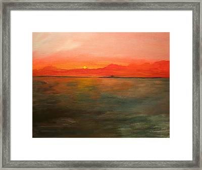 Tangerine Sky Framed Print by Julie Lueders