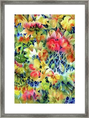 Tangled Blooms Framed Print
