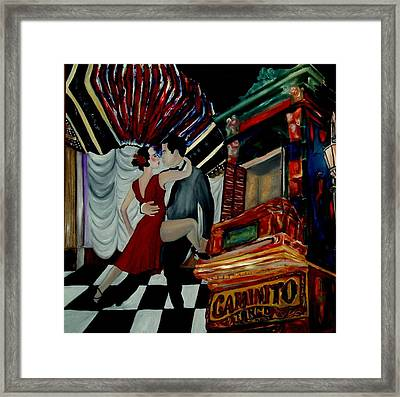 Tango For My Father Framed Print by Andrea Vazquez-Davidson