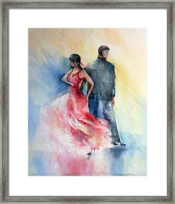 Tango Framed Print by Natalia Eremeyeva Duarte