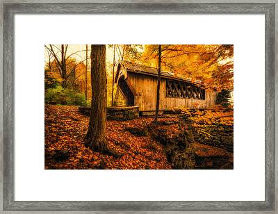 Framed Print featuring the photograph Tannery Hill Bridge by Robert Clifford