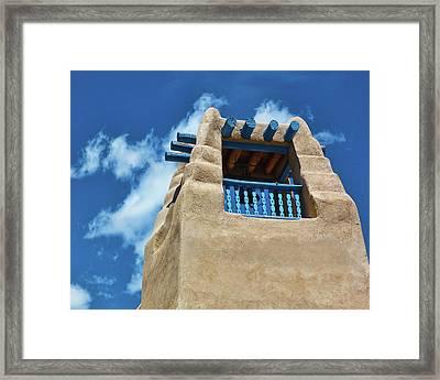 Taos Blue Framed Print