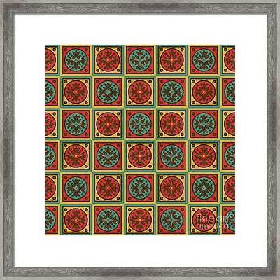 Tapestry Pattern Framed Print by Gaspar Avila