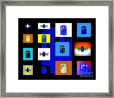 Tardis 7 Framed Print by Justin Moore