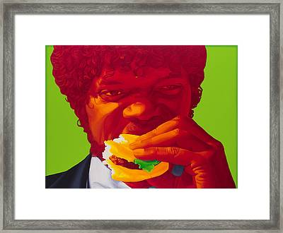 Tasty Burger Framed Print by Ellen Patton