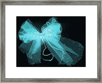 Tattered And Blue Framed Print by Dolly Mohr