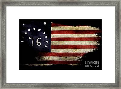 Tattered Bennington Flag Framed Print by Jon Neidert
