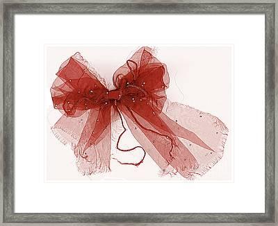 Tattered Red Framed Print by Dolly Mohr
