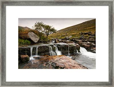 Tavy Cleave Waterfall Framed Print by Brian Northmore