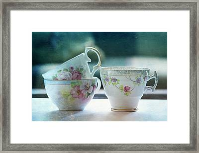 Tea For Three Framed Print by Bonnie Bruno