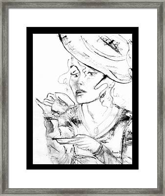 Tea Party Girl Framed Print