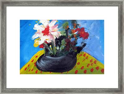 Tea Series B Framed Print by Rebecca Merola