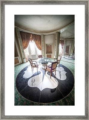 Tea Table In Abandoned Castle Abandoned Buildings Beautiful Int Framed Print by Dirk Ercken