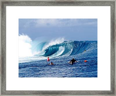 Teahupoo Wave Framed Print