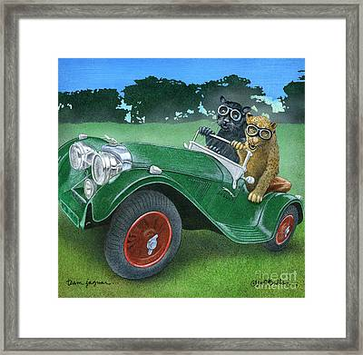 Team Jaguar... Framed Print