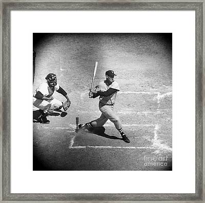 Ted Williams (1918-2002) Framed Print by Granger