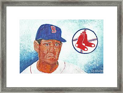 Ted Williams Framed Print by William Bowers