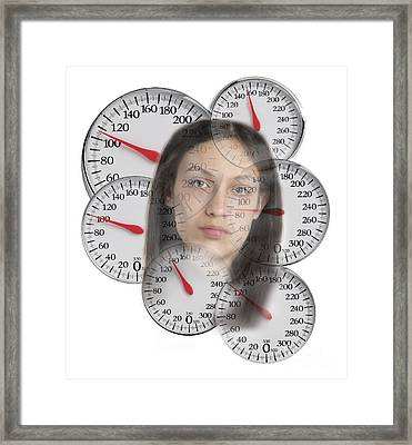 Teen Weight Obsession Framed Print by George Mattei