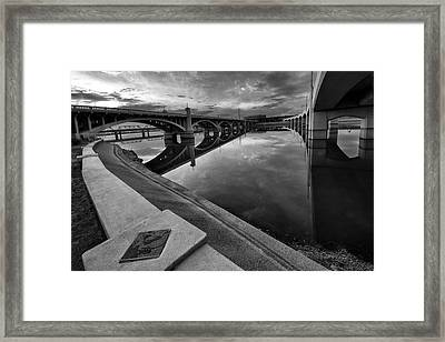 Tempe Town Lake In Black And White Framed Print