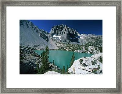 Temple Crag And Second Lake Framed Print by Soli Deo Gloria Wilderness And Wildlife Photography