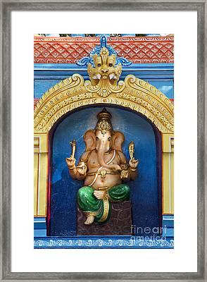 Temple Ganesha Framed Print by Tim Gainey