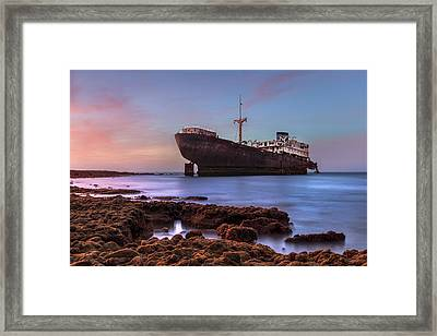 Temple Hall - Lanzarote Framed Print by Joana Kruse
