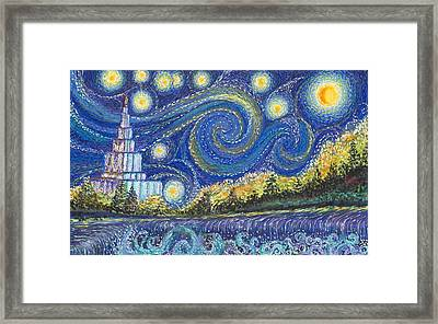Temple Night Framed Print by Rachel Roberts