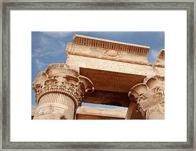Framed Print featuring the photograph Temple Of Kom Ombo by Silvia Bruno