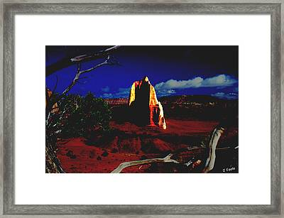 Temple Of The Moon 2 Framed Print by John Foote