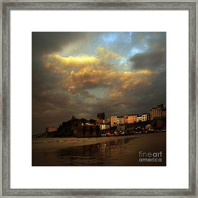 Tenby Framed Print by Angel Ciesniarska