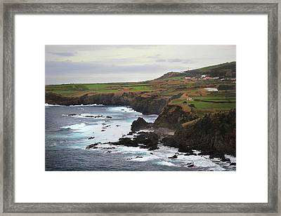 Terceira Coastline Framed Print