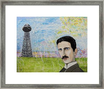 Tesla's Tower. Framed Print by Ken Zabel