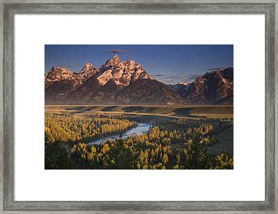 Teton Morning Framed Print by Andrew Soundarajan