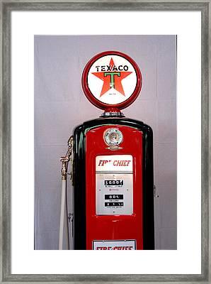 Texaco Gas Pump Framed Print by David Campione