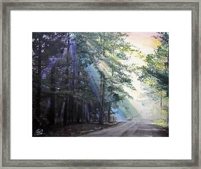 Texas Morning Framed Print by Tess Lee