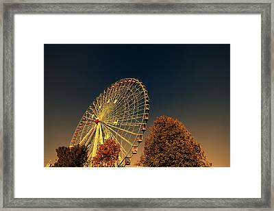 Texas Star Ferris Wheel Framed Print