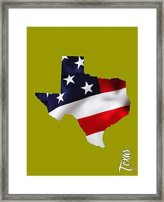 Texas State Map Collection Framed Print