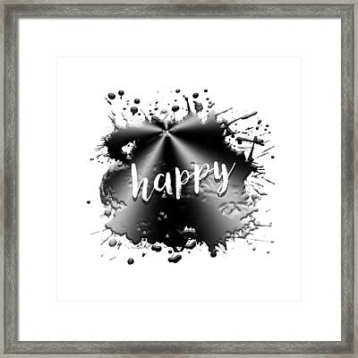 Text Art Happy Framed Print