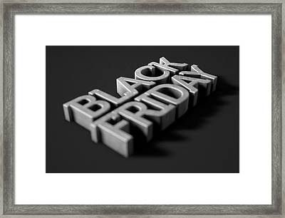 Text On Black Framed Print by Allan Swart